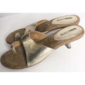 Donald J. Pliner Shoes - Donald j pliner Renee gold 8.5 heels sportique